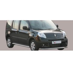 Defensa delantera barras en Acero Inoxidable Renault Kangoo 08- (with Stainless Steel Cap)