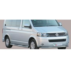 Defensa delantera barras en Acero Inoxidable Vw T5 '10-- (with Stainless Steel Cap)