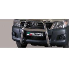 Defensa delantera barras en Acero Inoxidable Toyota Hi - Lux 11-