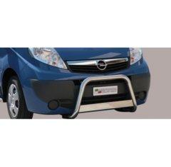 Defensa delantera barras en Acero Inoxidable Opel Vivaro 08-