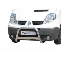 Defensa delantera barras en Acero Inoxidable Renault Trafic 07-
