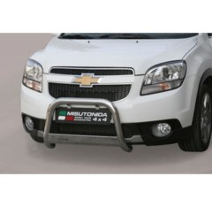 Defensa delantera barras en Acero Inoxidable Chevrolet Orlando