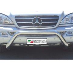 Defensa delantera barras en Acero Inoxidable Mercedes Ml 270/400 Cdi 02/05