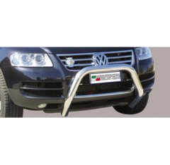 Defensa delantera barras en Acero Inoxidable Vw Touareg Until 2007