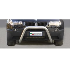 Defensa delantera barras en Acero Inoxidable Bmw X3 03-