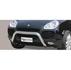 Defensa delantera barras en Acero Inoxidable Porsche Cayenne 03-