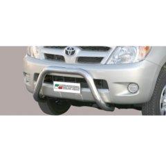 Defensa delantera barras en Acero Inoxidable Toyota Hi Lux 06/11