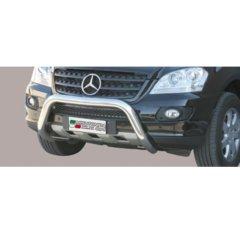 Defensa delantera barras en Acero Inoxidable Mercedes Ml 06/08
