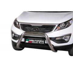Defensa delantera barras en Acero Inoxidable Kia Sportage 10-