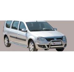 Defensa delantera barras en Acero Inoxidable Dacia Logan Mcv 09-