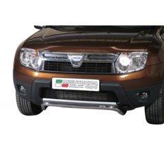 Defensa delantera barras en Acero Inoxidable Dacia Duster 10 -