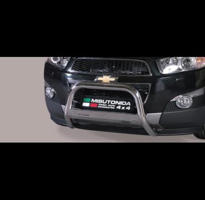 Defensa delantera barras en Acero Inoxidable Chevrolet Captiva 11- Diametro 63 Homologada