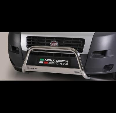 Defensa delantera barras en Acero Inoxidable Homologacion Ec Fiat Ducato 06- Medium Bar Acero Inox Diametro 63