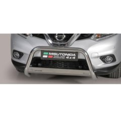 Defensa delantera barras en Acero Inoxidable Nissan X-trail Anos 2015-2017 - Diametro 63mm - Homologacion Ce