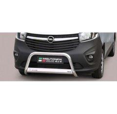 Defensa delantera barras en Acero Inoxidable Opel Vivaro 14- - Diametro 63mm - Homologacion Ce