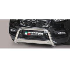Defensa delantera barras en Acero Inoxidable Opel Mokka X O 63 Homologada - Misutonida Italia