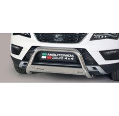 Defensa delantera barras en Acero Inoxidable Seat Ateca O 63 Homologada - Misutonida Italia