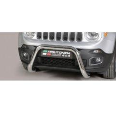 Defensa delantera barras en Acero Inoxidable Jeep Renegade 14- - Diametro 76mm - Homologacion Ce