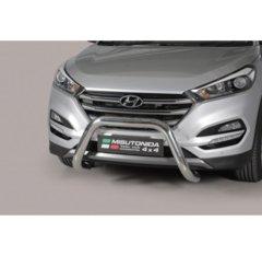 Defensa delantera barras en Acero Inoxidable Hyundai Tucson 15- - Diametro 76mm - Homologacion Ce