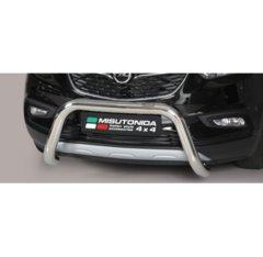 Defensa delantera barras en Acero Inoxidable Opel Mokka X O 76 Homologada - Misutonida Italia