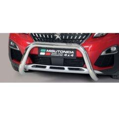 Defensa delantera barras en Acero Inoxidable Peugeot 3008 18- O 76 Homologada - Misutonida Italia