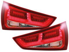 DECTANE Pilotos faros traseros LED Audi A1 2011+ rojo/transparente