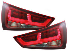 DECTANE Pilotos faros traseros LED Audi A1 2011+ rojo/ahumado