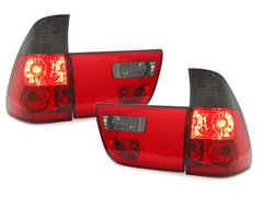Pilotos faros traseros BMW X5 00-02 4 piezas rojo/ahumado