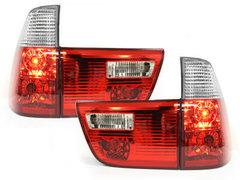 Pilotos faros traseros BMW X5 00-02 4 piezas rojo/cristal