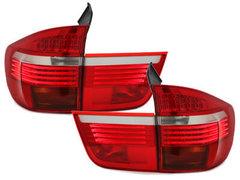 Pilotos faros traseros LED BMW X5 06-10 rojo/cristal