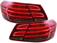 Dectane Pilotos faros traseros LED Mercedes Benz W212 13+ rojo/ahumado