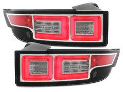 Pilotos faros traseros LED Range Rover Evoque 2011+ negro/cromado