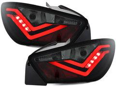 Dectane Pilotos faros traseros LED Seat Ibiza 6J 04.08-12.14 FR Design negro/ahuma