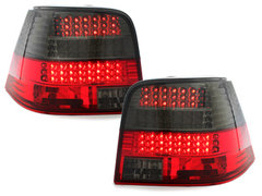 Pilotos faros traseros LED VW Golf IV 97-04 rojo/ahumado intermite