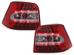 Pilotos faros traseros LED VW Golf IV 97-04 rojo/cristal