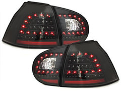 LITEC Pilotos faros traseros LED VW Golf V 5 03-09 negro