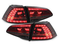 DECTANE Pilotos faros traseros VW Golf VII 13+ rojo/ahumado
