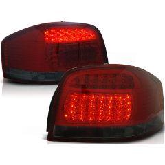 Focos / Pilotos traseros de LED Audi A3 05.03-08 Rojo Ahumado Led