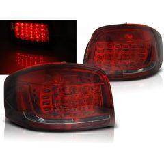 Focos / Pilotos traseros de LED Audi A3 08-12 Rojo Ahumado Led