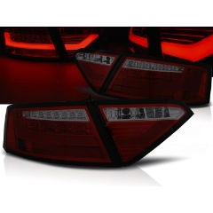 Focos / Pilotos traseros de LED Audi A5 07-06.11 Coupe Rojo Ahumado Led Bar