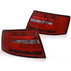 Focos / Pilotos traseros de LED Audi A6 C6 Sedan 04.04-08 Rojos White Led Bar 7-pin