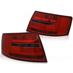 Focos / Pilotos traseros de LED Audi A6 C6 Sedan 04.04-08 Rojos ahumados Led Bar 7-pin