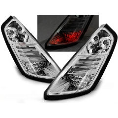 Focos / Pilotos traseros de LED Fiat Grande Punto 09.05-09 Cromado Led