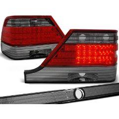 Focos / Pilotos traseros de LED Mercedes W140 95-10.98 Rojo Ahumado Led
