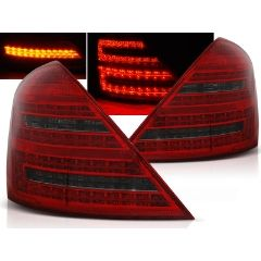 Focos / Pilotos traseros de LED Mercedes W221 S-klasa 05-09 Rojo Ahumado Led