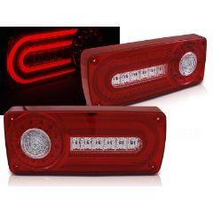 Focos / Pilotos traseros de LED Mercedes W463 G-klasa 90-12 Rojo Blanco Led
