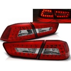Focos / Pilotos traseros de LED Mitsubishi Lancer 8 Sedan 08-11 Rojo/blanco Led