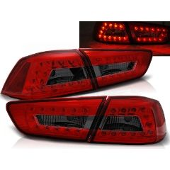 Focos / Pilotos traseros de LED Mitsubishi Lancer 8 Sedan 08-11 Rojo Ahumado Led