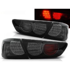 Focos / Pilotos traseros de LED Mitsubishi Lancer 8 Sedan 08-11 Negro Ahumado Led