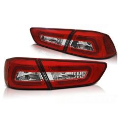 Focos / Pilotos traseros de LED Mitsubishi Lancer 8 Sedan 08-11 Rojos White Led Bar